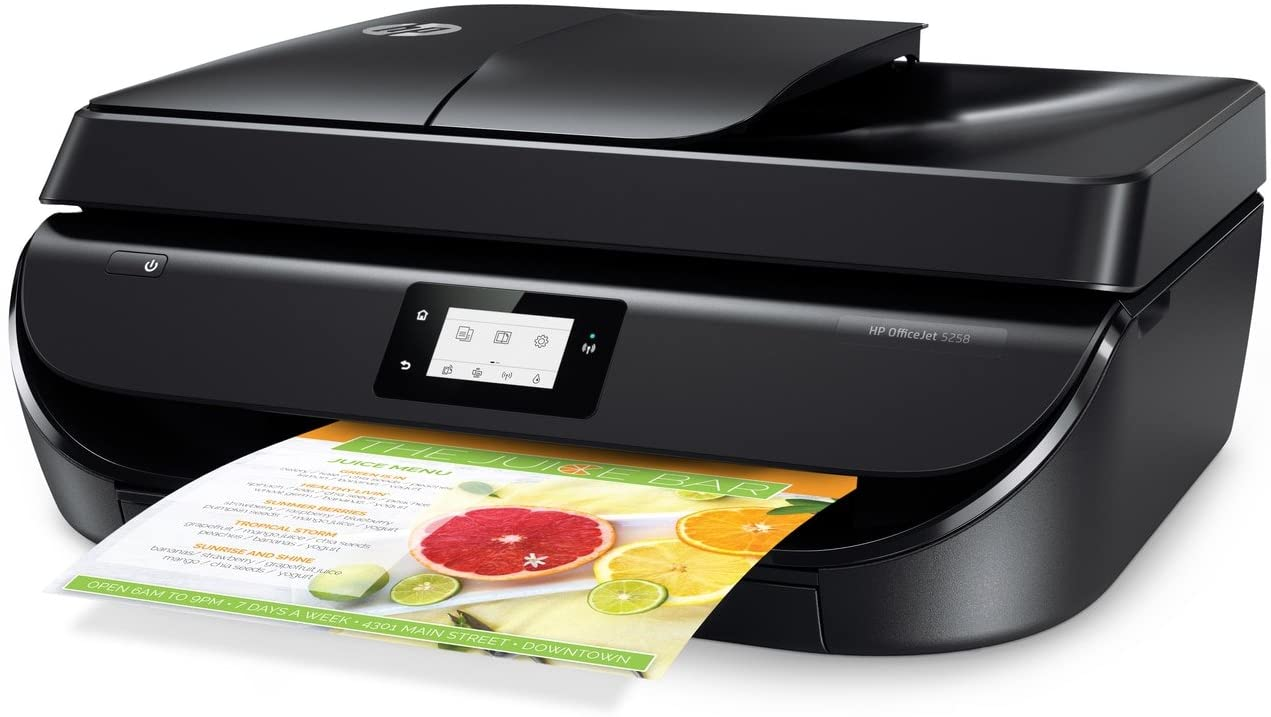HP OfficeJet 5258 All-in-One Printer with Mobile Printing, Instant Ink Ready (Renewed)