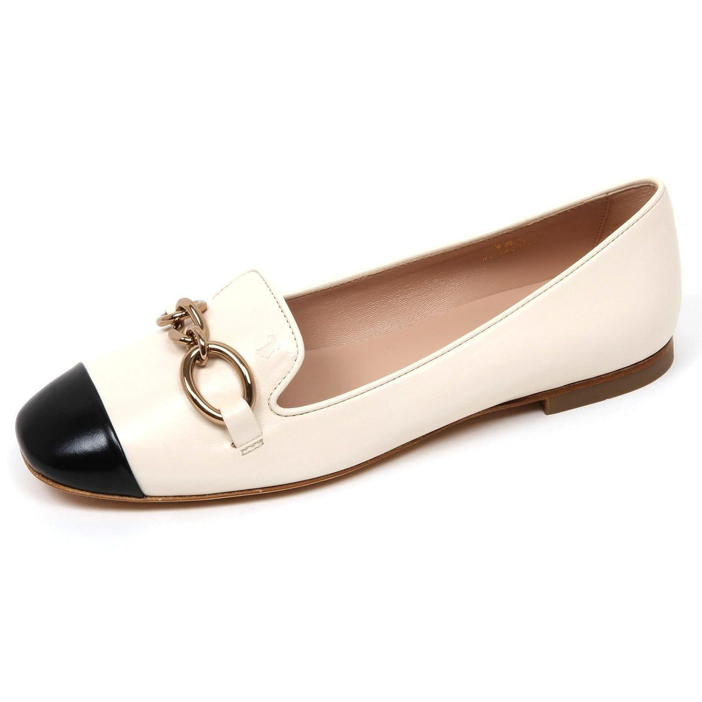 C9082 ballerina donna scarpa TOD'S scarpa donna avorio/nero shoe woman ivory/black Avorio/Nero 970ee3