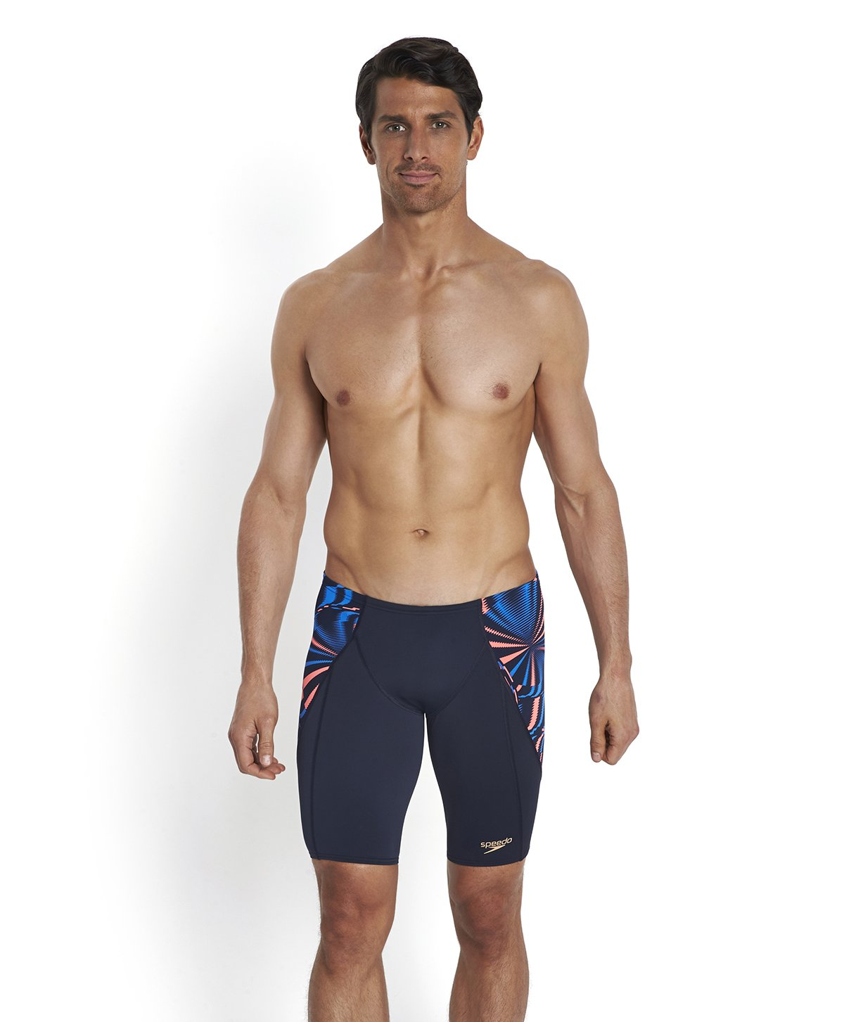 Speedo Endurance Plus V Panel Jammer Print 4 - Navy and Blue