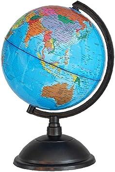 Función Multi Pvc Mapa Globo Inglés Plástico Hd Globo Enseñanza De Plástico De Escritorio De Estudiantes Del Ministerio Del Interior Azul: Amazon.es: Juguetes y juegos