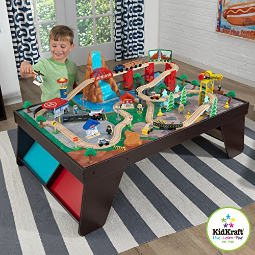 KidKraft Waterfall Station Train Set and Table (Station Train Set)