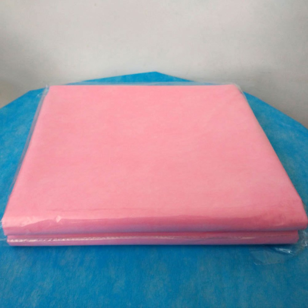 ZeHui Disposable Non-Woven SPA Massage Bed Sheet Waterproof and Anti-Oil Table Bed Covers for Hospital Salon Hotel Travel, 29.5x68.9inch 20Pcs Pink