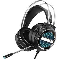 Houshome Fone de ouvido estéreo X9 para jogos 7.1 Virtual Surround Bass Fone de ouvido para jogos Fone de ouvido para…