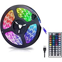 Gluckluz LED Lighting Strip TV Back Light 2M Strips Lights for Kitchen Hotel Home Theater HDTV Laptop PC Monitor, USB…
