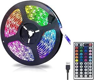 Gluckluz LED Lighting Strip TV Back Light 2M Strips Lights for Kitchen Hotel Home Theater HDTV Laptop PC Monitor, USB SMD 5050 Changing Color Strip Kit (Remote Control)