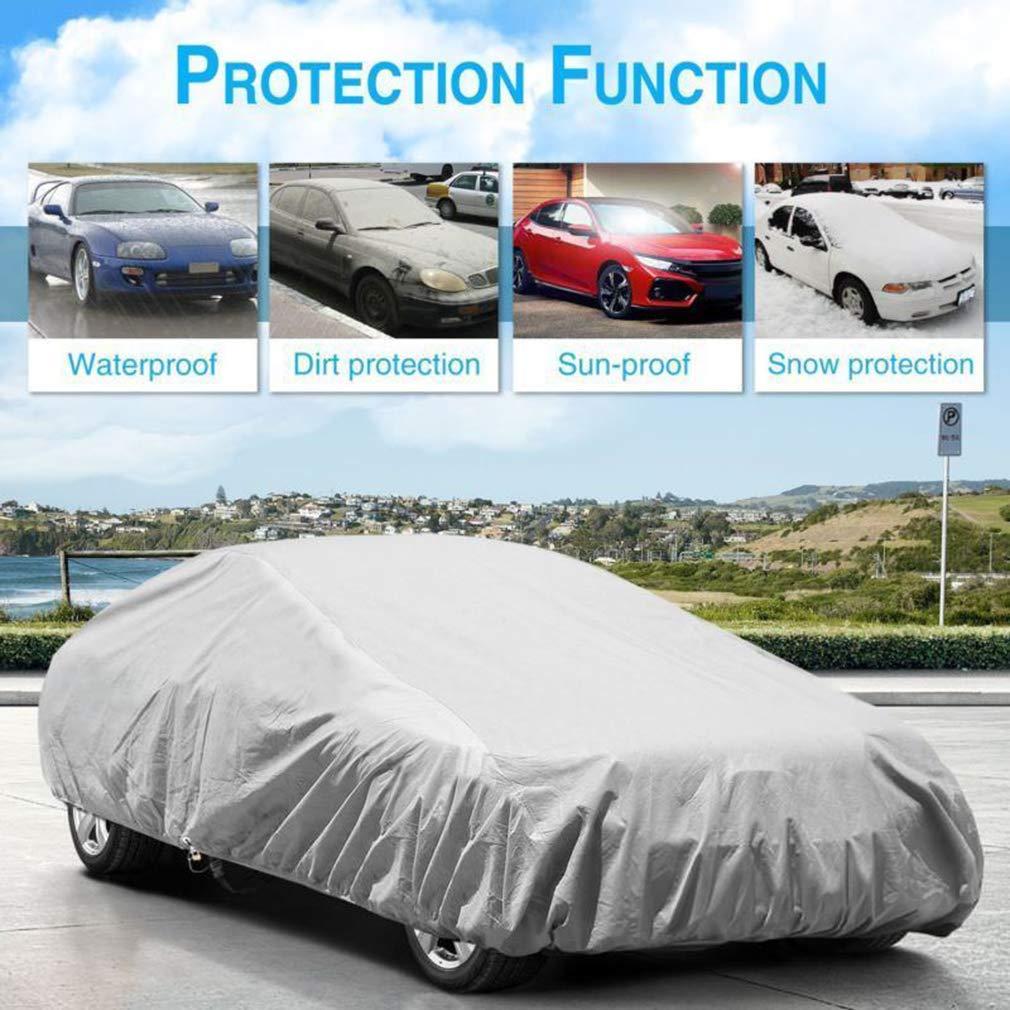 S-XXL Argento Copriauto Telo Copriauto Auto Impermeabile Pieghevole Anti UV Anti Pioggia Sole PEVA Car Cover Allaperto Copriauto per Modelli Multipli