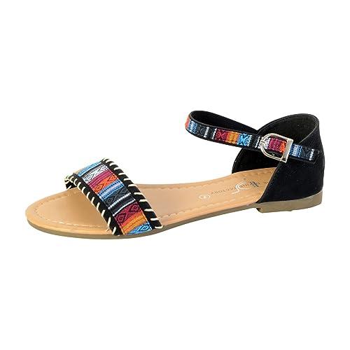 Divine Sandale The Noir Factory Chaussures Plate et Sacs qHRwOPd