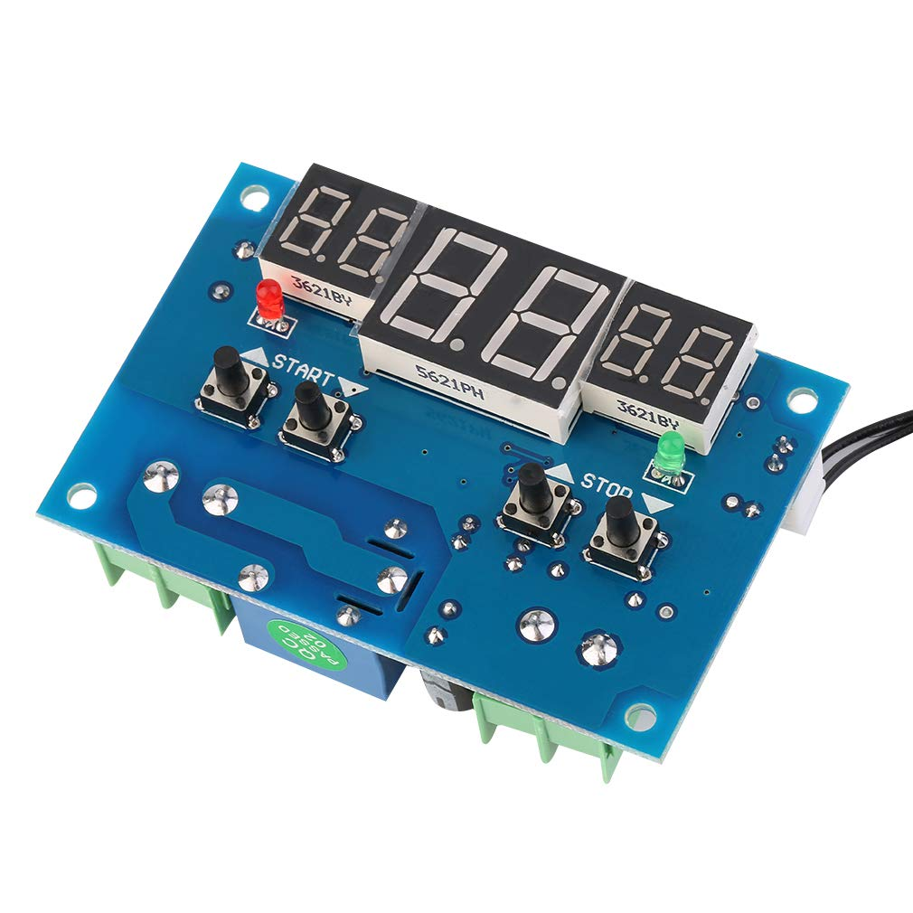 Super Deals XHW1401 DC 12V Digital Display Thermostat Temperature Controller with Sensor Three-Window simultaneous Display