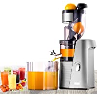"""SKG Cold Press Juicer High Yield Juice Extractor, Quiet Anti-Oxidation Easy to Clean 36 RPM 250W AC Motor & Large 3.15""""Turn Over Wide Mouth the Best Fruit and Vegetable Slow Masticating Juicer"""
