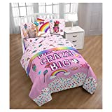 JoJo Siwa® Twin Comforter and Pink Sheet Sets with Throw and Pillow
