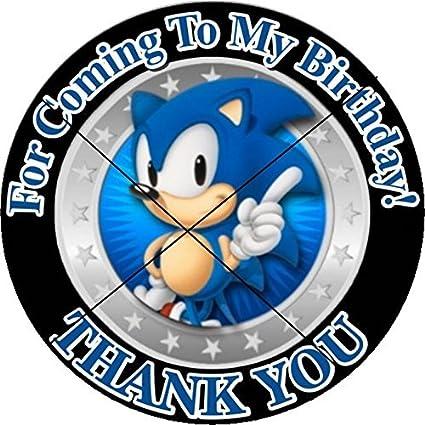 Amazon.com: 12 Sonic el erizo – fiesta de cumpleaños Favor ...