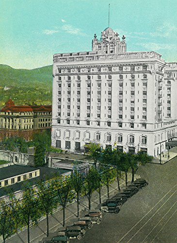 Salt Lake City, Utah - Exterior View of the Hotel Utah (36x54 Giclee Gallery Print, Wall Decor Travel Poster)