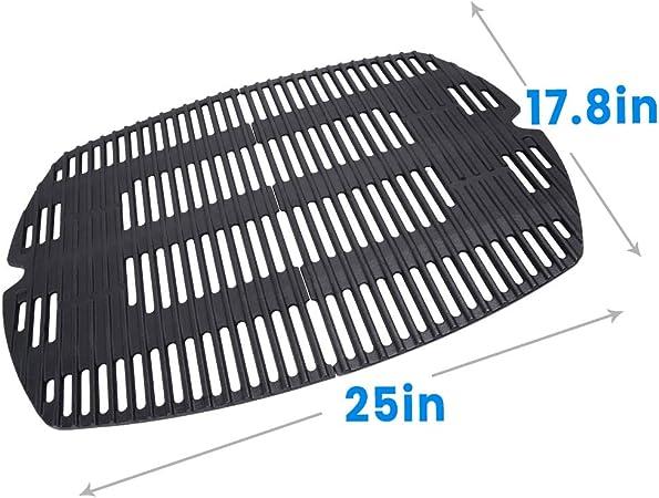 Amazon Com Hosom 7646 Rust Resistant Cooking Grates For Weber Q300 Q3200 Q320 Q3000 586002 Set Of 2 Garden Outdoor