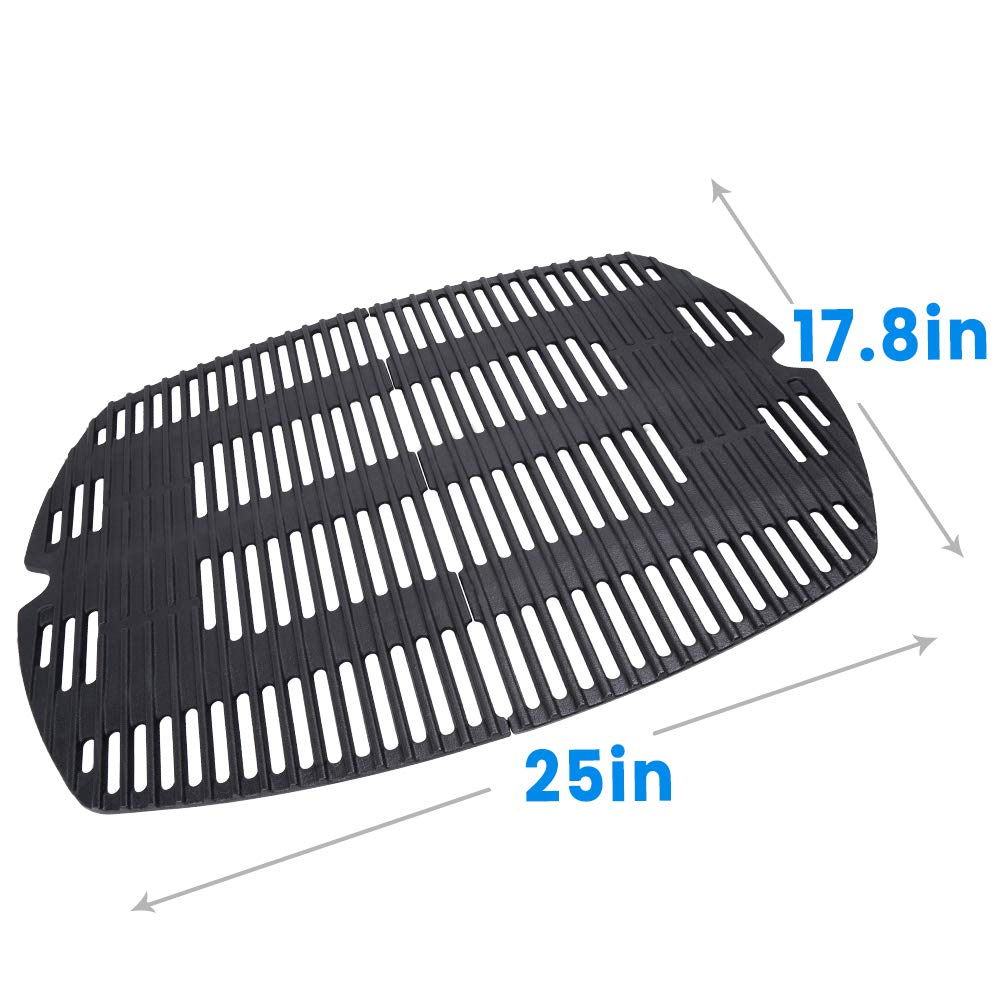 Hosom 7646 Porcelain Cast Iron Cooking Grates for Weber Q300, Q3000 Series(25 Inch x 17.8 Inch) by Hosom