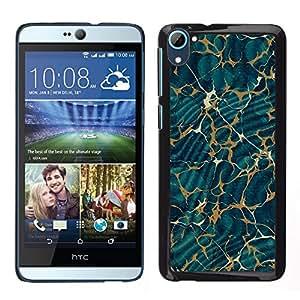 Funda para Smartphone carcasa rígida Carcasa para HTC Desire D826/funda TECELL Store/verde de papel pintado de mármol