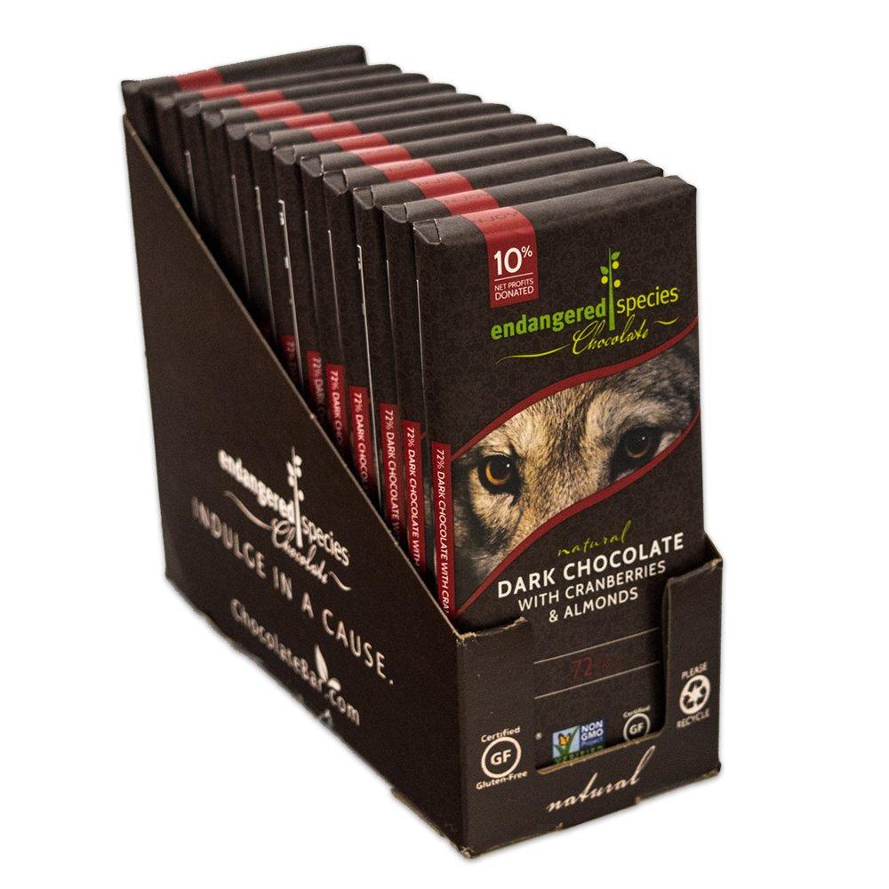 Amazon.com : Endangered Species Wolf, Natural Dark Chocolate (72 ...