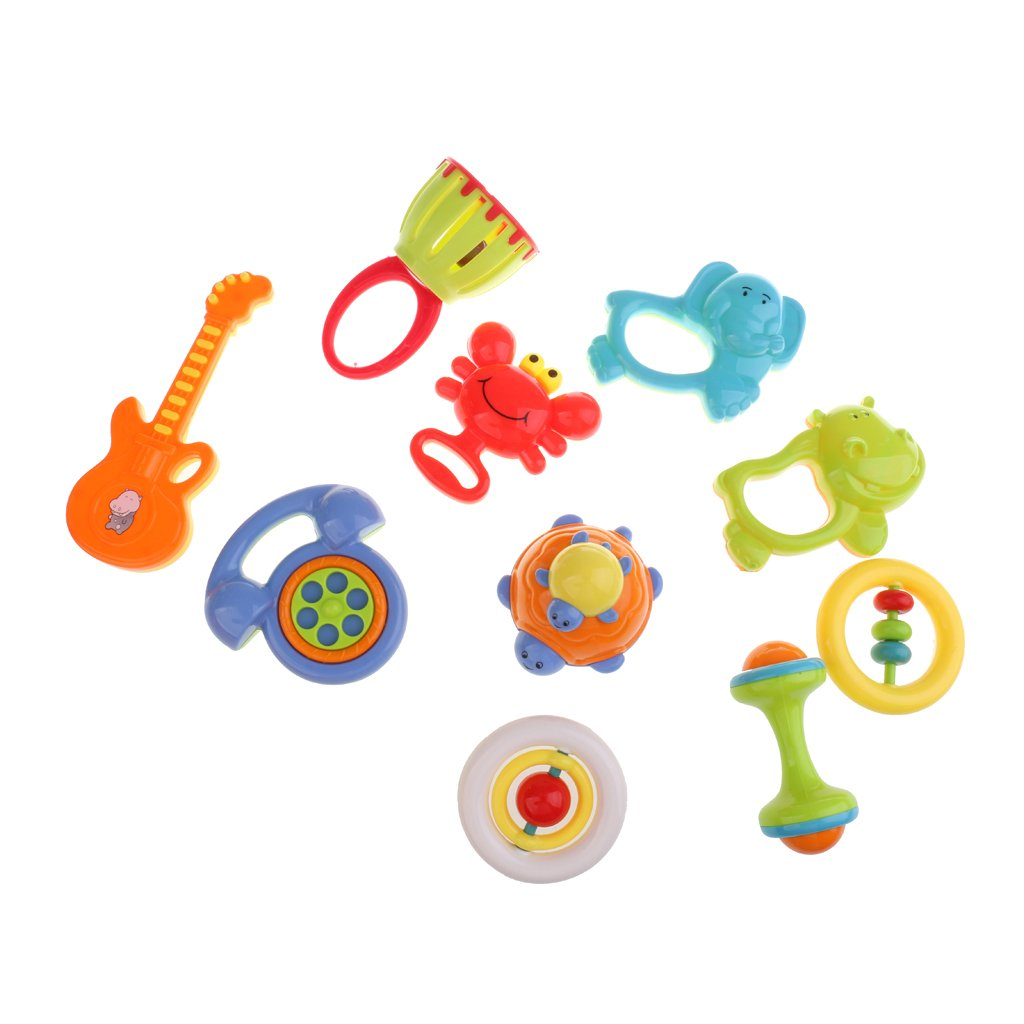 Instrument Infant Developmental Baby Shaking Toy Plastic Crab Rattles Hand Bell