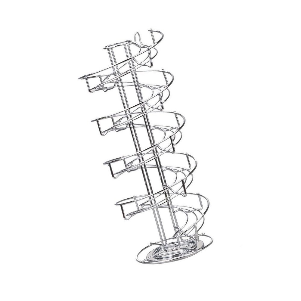 Green_Kitchen Toplife Spiral Design Stainless Steel Egg Skelter Dispenser Rack,Storage Display Rack,Silver by Green_Kitchen