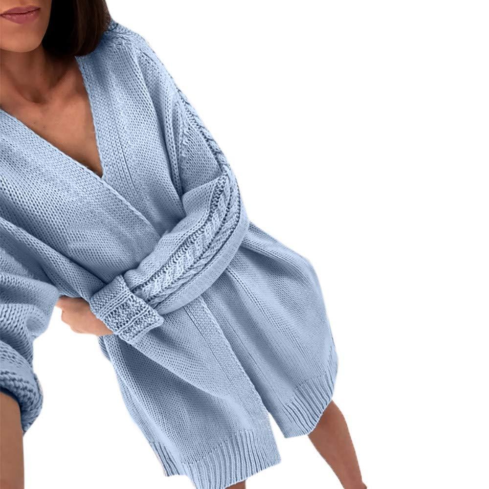 NPRADLA 2018 Herbst Winter Damen Cardigan Tops Langarm Einfarbig Gestrickte Pullover Bluse