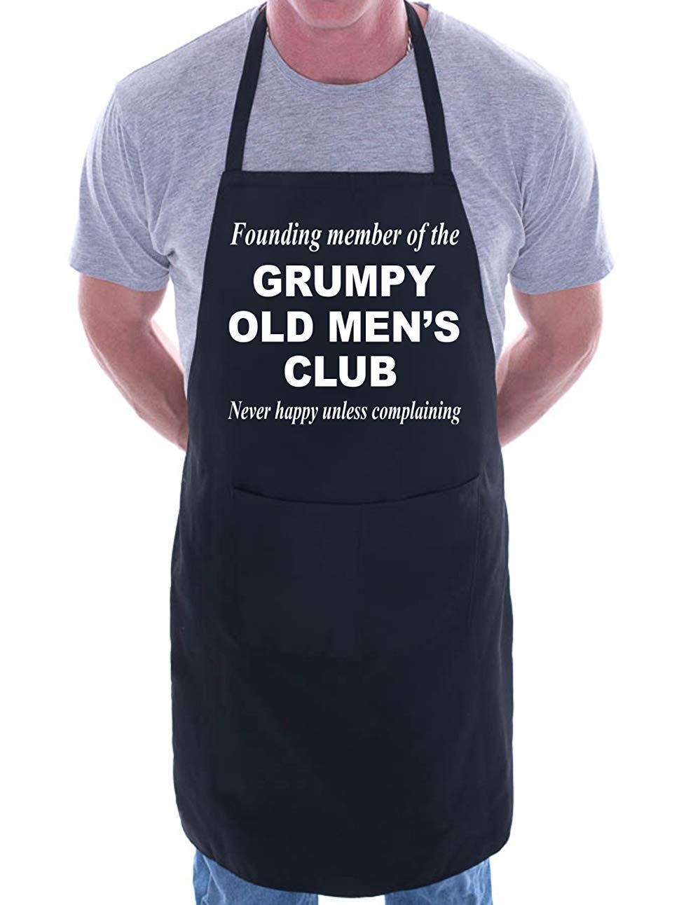 Mesllings Delantal Gracioso Texto en inglés Grumpy Old Mens ...