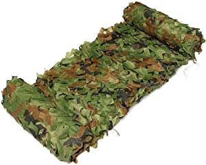 Huoo Army Camouflage Netting Woodland Green Camo Garden Netting f Kid Party Bedroom Tree Decorations Background Photography