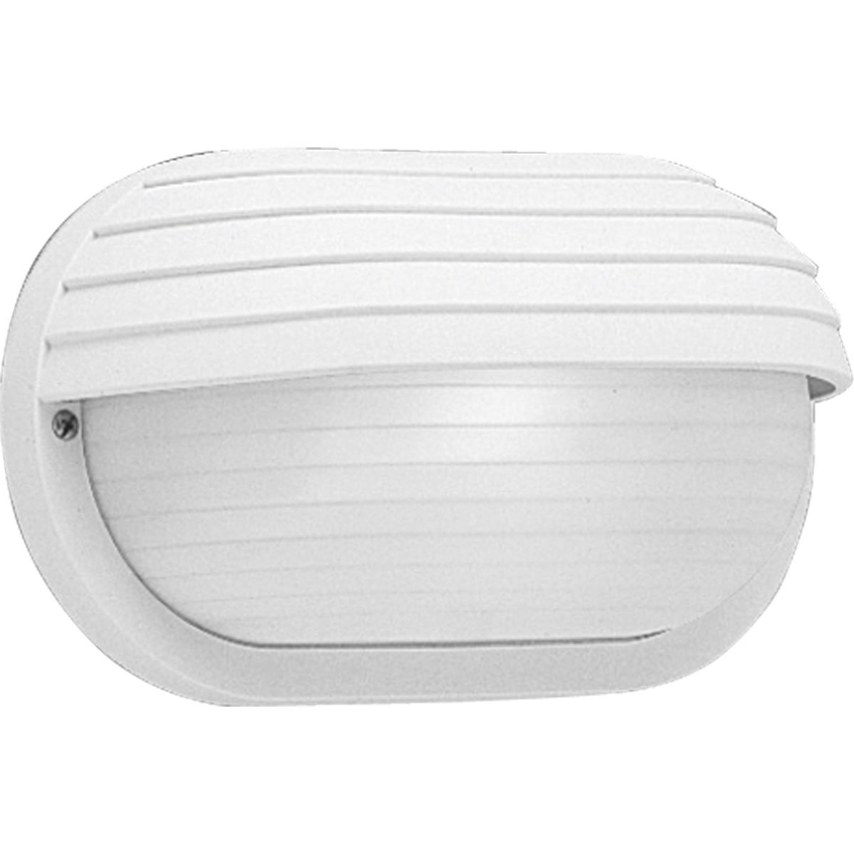 Progress Lighting P5706-30 Polycarbonate Light Mounted On Walls Only Indoors or Outdoors with No Color Fade, White