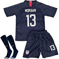 c4bc7d74 Alex Morgan #13 2018-2019 USA National Home Kids/Youth Socce Jersey Matching