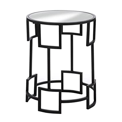 Amazon Com Geometric End Table Black Iron End Table Mirrored Side