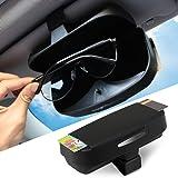 Car Sun Visor Glasses Box case Ticket Receipt Clip Storage Holder Fit Tesla Model 3 /Tesla Model S and Model X 2017 2018 2019 Accessories Black TSLJYH00H
