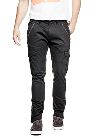 new high quality look good shoes sale discover latest trends GUESS Men's Twill Zipped Cargo Pant at Amazon Men's Clothing ...