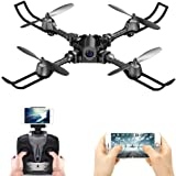 FSTgo RC Drone Foldable Remote Control FPV VR Wifi Quadcopter 2.4GHz 6-Axis Gyro 4CH Helicopter with Camera Aircraft Video Time Transmission RTF