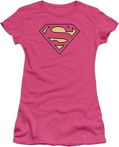 Camiseta con logo de Superman para mujer: Amazon.es: Ropa y accesorios