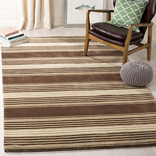 Safavieh Martha Stewart Collection MSR4541A Harmony Stripe Premium Wool Tobacco Leaf Area Rug (4' x 6')