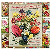 """Wall Calendar 2017 [12 pages 8""""x11""""] Flowers Wildflowers Vintage Seed Pocket Poster"""