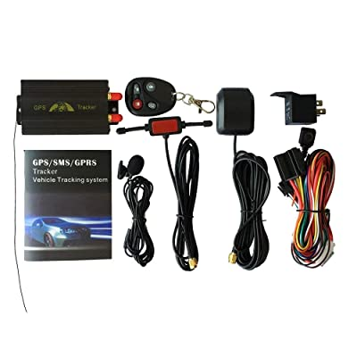 ZHCKyee GPS/SMS/GPRS Tracker TK103B Vehicle Tracking System with Remote Control: GPS & Navigation