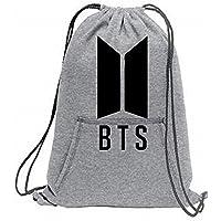 Melcom Cotton Drawstring Bag Sports Sweat-Shirt BTS Printed Cinch Backpack