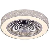 XMYX Moderne led-plafondventilator met licht en afstandsbediening, geluidsarm, dimbaar, plafondlamp voor slaapkamer…