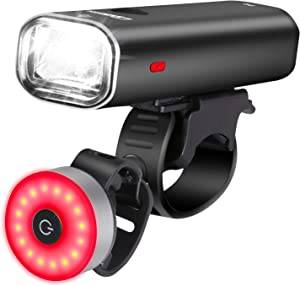 Cycloving Super Bright LED Bike Lights. Cycling Water Resistant Bicycle Headlight and Tail Light