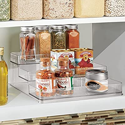 Condiment Storage Jar Box Clear Seasoning Container Rack Food Spices Herbs UK