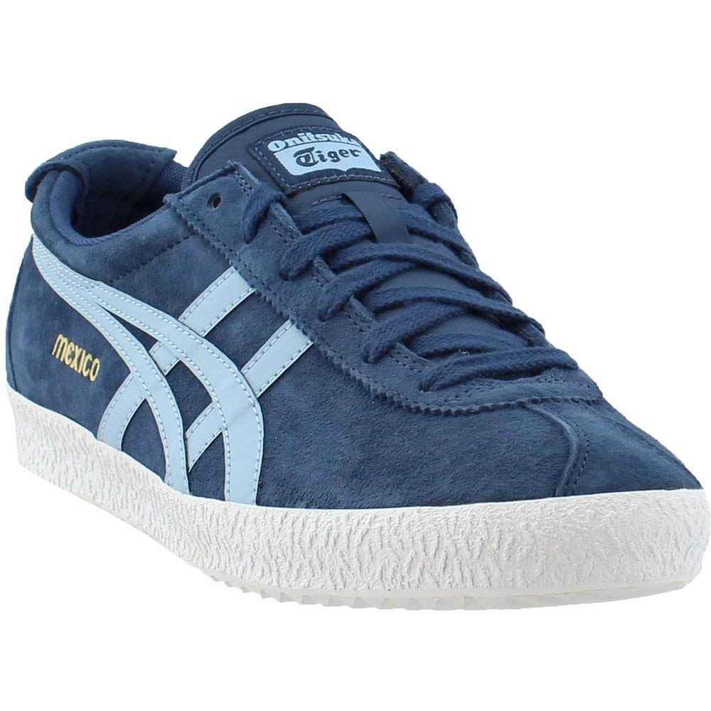 Galleon - Onitsuka Tiger By Asics Unisex Mexico Delegation Dark Blue Smoke Light  Blue 9.5 Women   8 Men M US c187b8da4