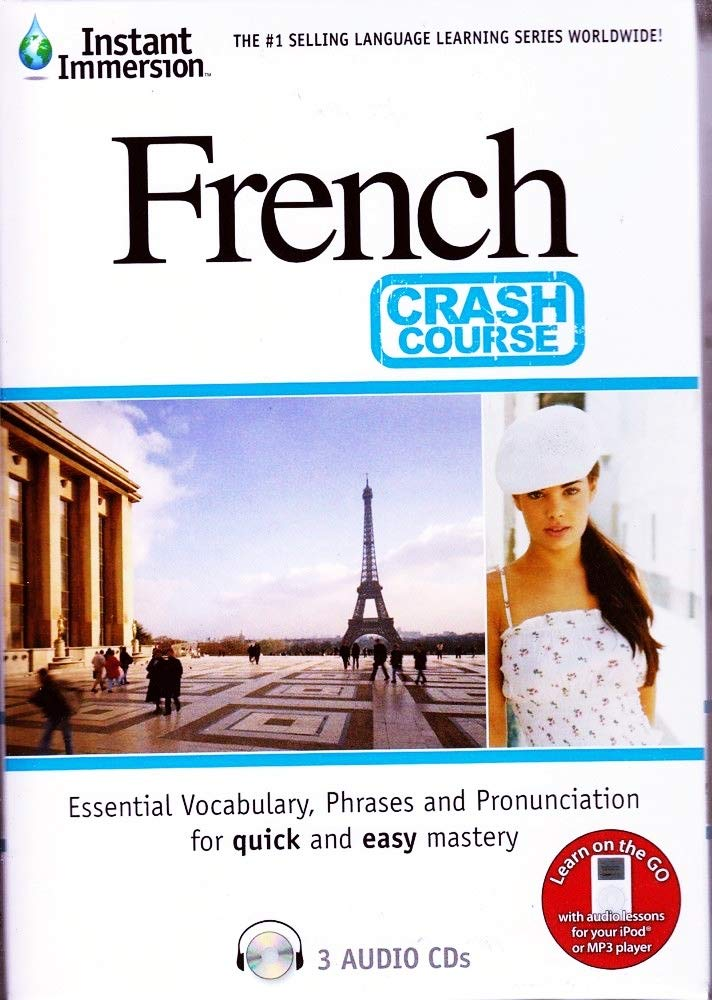 Fast Easy Crash Course Learn French Language (3 Audio CDs) Listen in Your car