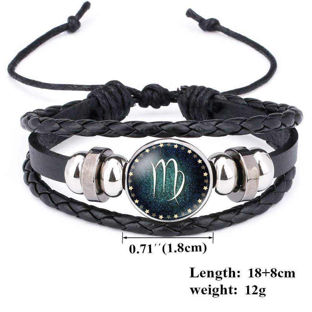 Bloomy Bracelet Mixte 12/Constellation Pierre pr/écieuse de Temps Lumineux Bracelet s
