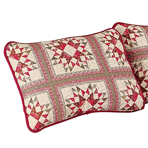 Allspice Patchwork Star Pillow Sham