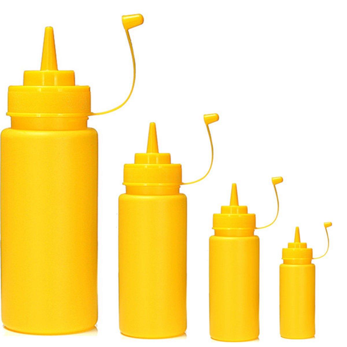 Salsa bottiglia di plastica quattro confezioni marmellata di pomodori insalata bianco S