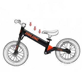 Best Gift For Boys And Girls For Ages 2 To 7 Years Aluminum Balance Bike For Kids And Toddlers Sport Balance Bike No Pedal Walking Bicycle With Carbon Steel Frame Adjustable Handlebar And Seat 12 Inch
