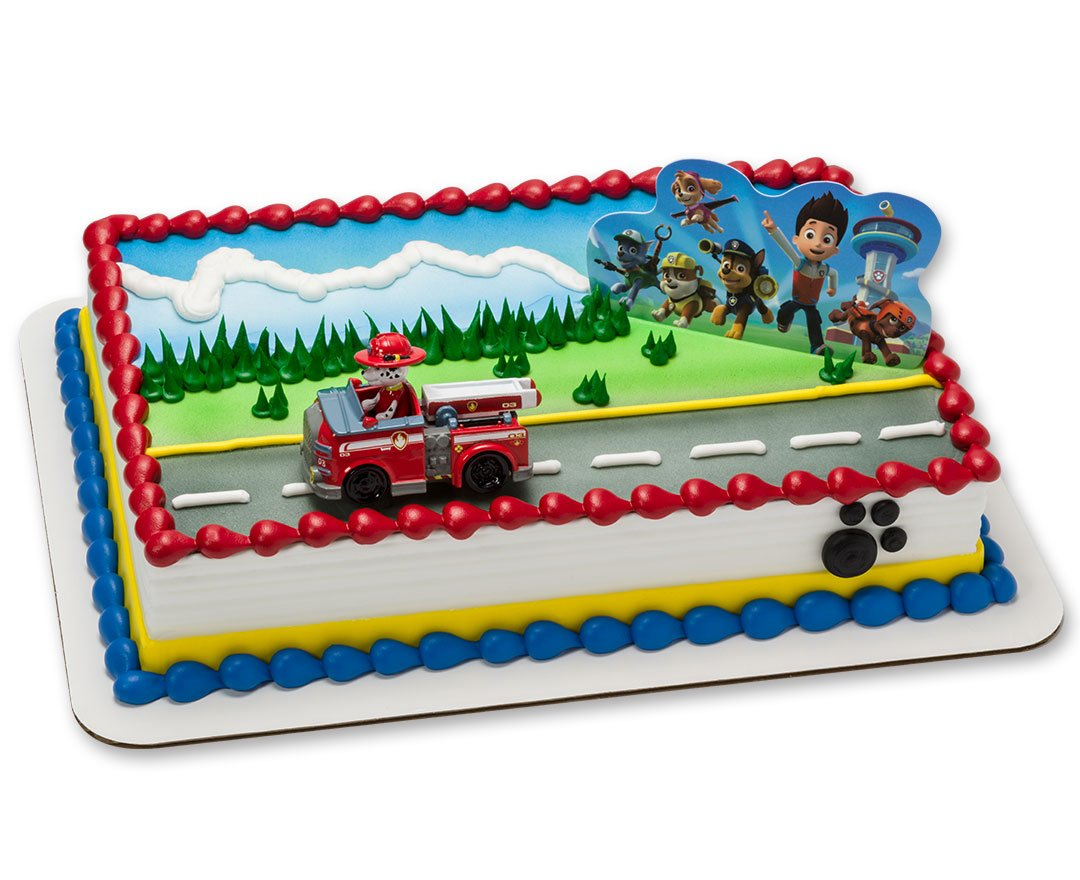 Amazon Com Decopac Paw Patrol Just Yelp For Help Cake Topper Set