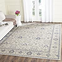 Safavieh Patina Collection PTN322C Light Grey and Ivory Cotton Area Rug (8 x 10)