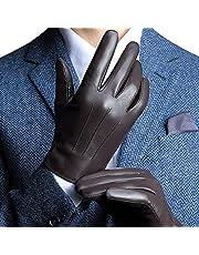 Gants en Nappa Cuir Hommes, doublure en peluche parfait pour l'hiver Écran Tactile/dattiloscrivere/conduire disponible