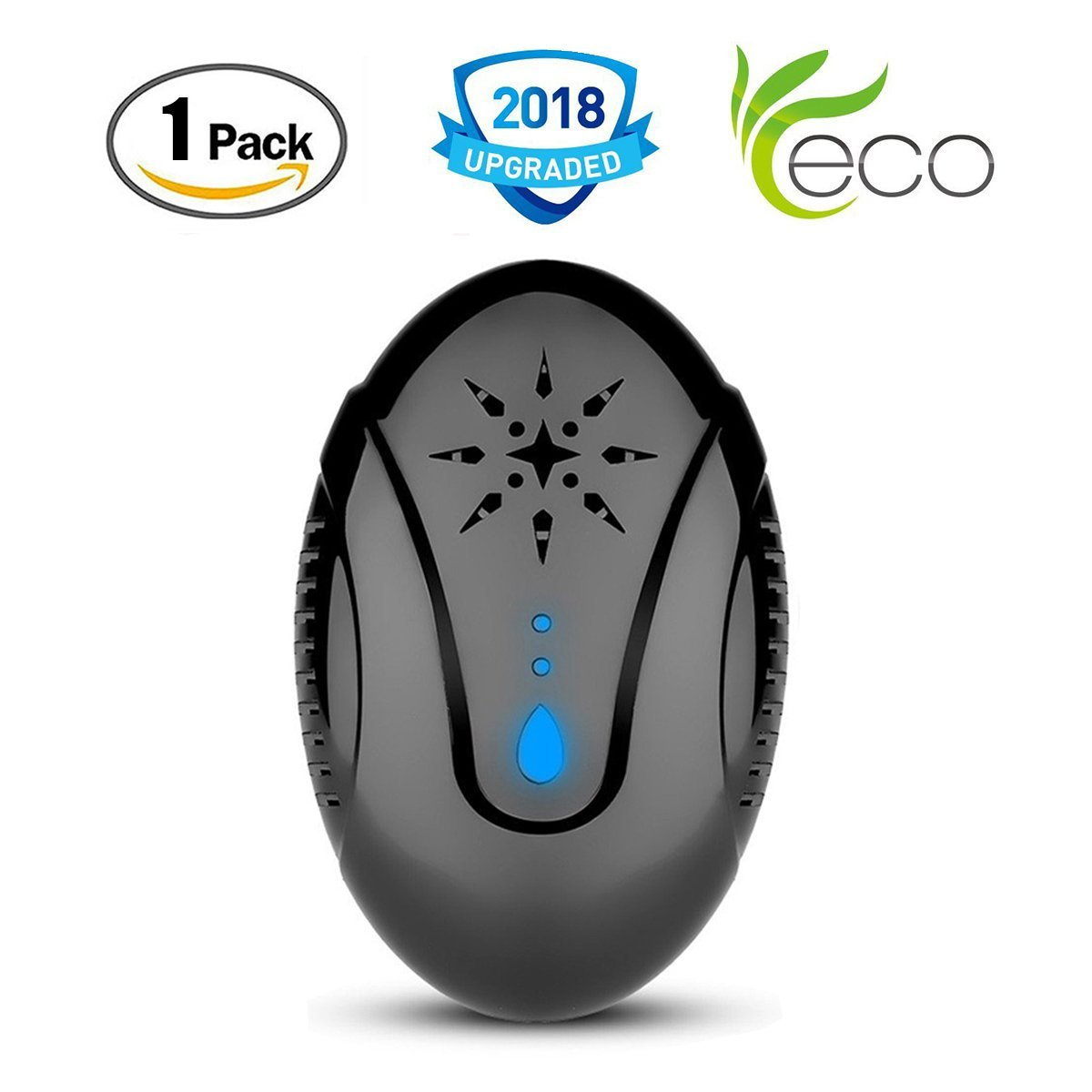 Emopeak Ultrasonic Pest Control Repeller, Pest Repeller Plug-in Insect Repellent for Cockroach, Mice, Rodents, Spiders, Flies, Moquitos, Ants, Flea