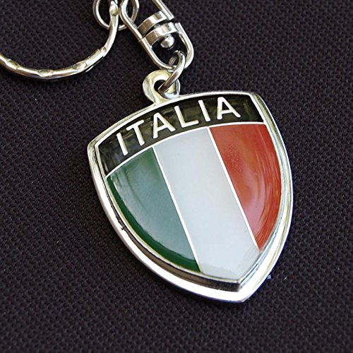 (Amazing Italy Italia Show Quality Metal Decorative Keychain 1.7